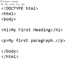 Making your first page with heading and body text