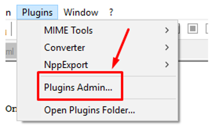 Plugin in Notepad++