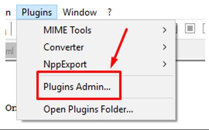 Plugin in Notepad++